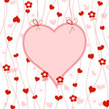 Cute heart frame Stock Images
