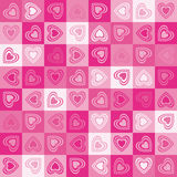 Cute heart seamless background stock image