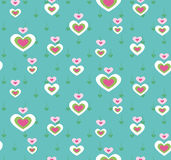 Cute heart seamless pattern Royalty Free Stock Photography