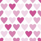 Cute heart seamless vector pattern in pink stock illustration