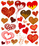 Cute Heart Set Royalty Free Stock Image