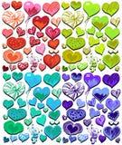 Cute Heart Set Stock Image