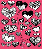 Cute Heart Set Royalty Free Stock Images