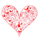 Cute heart with swirly pattern Royalty Free Stock Image