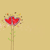 Cute heart tree background Stock Photos