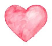 Cute Heart. Watercolor illustration Royalty Free Stock Photos