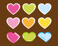 Cute hearts Stock Image