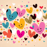Cute hearts Stock Images