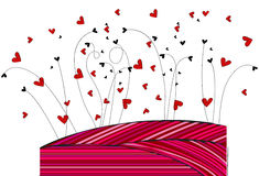 Cute hearts background Royalty Free Stock Images