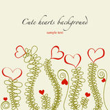 Cute hearts background Stock Image