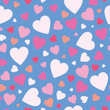 Cute hearts background Royalty Free Stock Image