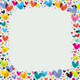 Cute hearts border Royalty Free Stock Image