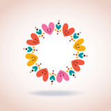 Cute hearts circle love symbol sign icon concept. Hearts circle love symbol sign icon concept Royalty Free Stock Photography