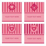 cute hearts frames Royalty Free Stock Images