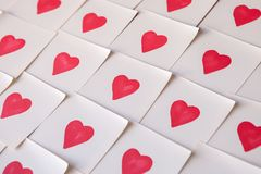 Love notes. Background for design with red hearts Background with red hearts. Pattern. stock photo