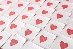 Love notes. Background for design with red hearts Background with red hearts. Pattern. stock image