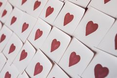 Love notes. Background for design with red hearts Background with red hearts. Pattern. royalty free stock photo