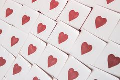 Love notes. Background for design with red hearts Background with red hearts. Pattern. royalty free stock photography