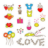 Cute Hearts of Love Royalty Free Stock Image