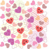 Cute hearts pattern Royalty Free Stock Photo