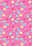 Cute hearts pattern. Vector illustration of colored hearts in a repeat pattern Royalty Free Stock Photography
