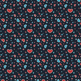 Cute Hearts Pattern Stock Images
