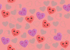 Cute hearts pink pattern Stock Photos