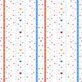 Cute hearts seamless pattern Royalty Free Stock Photography