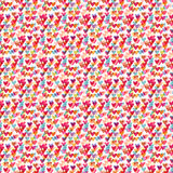 Cute hearts seamless pattern. Fashion vector background for textile or wrapping design. Royalty Free Stock Images