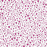Cute hearts seamless pattern. On white background Royalty Free Stock Photo