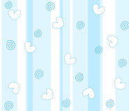 Cute hearts striped background stock illustration