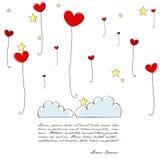 Cute heartshaped balloons Stock Photography