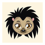 Cute hedgehog avatar with flat colors Royalty Free Stock Image