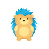 Cute Hedgehog With Blue Spines Stock Images