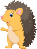 Cute hedgehog cartoon Royalty Free Stock Images