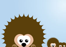 Cute hedgehog family Royalty Free Stock Photos