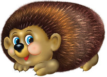 Cute hedgehog illustration Stock Image