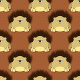 Cute hedgehog pattern Royalty Free Stock Images