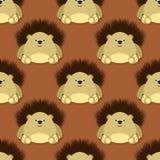 Cute hedgehog pattern Royalty Free Stock Images