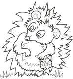 Cute hedgehog and raspberry Royalty Free Stock Photos