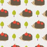 Cute hedgehog seamless pattern Royalty Free Stock Images