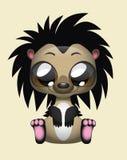 Cute Hedgehog Vector Illustration Art. Cute illustration of a hedgehog Stock Photos