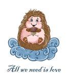 Cute hedgehog Royalty Free Stock Images