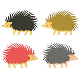 Cute Hedgehogs Wild Mammal Set Royalty Free Stock Photo