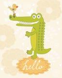 Cute hello card Stock Photos