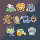Cute helloween stickers Stock Image