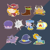 Cute helloween stickers Stock Photography