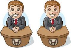Cute Help Desk. Cute little help desk guy Royalty Free Stock Image