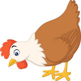 Cute Hen cartoon. Illustration of Cute Hen cartoon on white background Royalty Free Stock Images