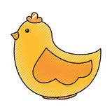 Cute hen drawing icon Royalty Free Stock Photo